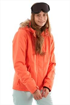 Roxy Jet Ski Solid Women's Ski/Snowboard Jacket, S Living Coral Arrow