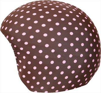 Coolcasc Printed Cool Ski/Snowboard Helmet Cover, Brown/Pink Dots