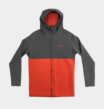Follow Neo Zip Layer 3.12 Jacket, Large Charcoal Rust