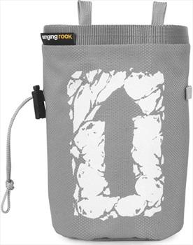 Singing Rock Large Arrow Rock Climbing Chalk Bag, Grey Block Print