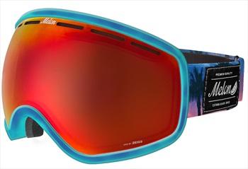 Melon Chief Red Chrome Snowboard/Ski Goggle, M/L Bubblegum Blue