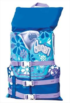 O'Brien Kids Nylon Buoyancy Aid Jacket With Collar, Youth Blue Purple