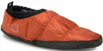 Nordisk Mos Down Shoes Insulated Camping Slippers, UK 6-8 Orange