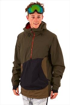 thirtytwo TM Anorak Ski/Snowboard Pullover Jacket, S Army