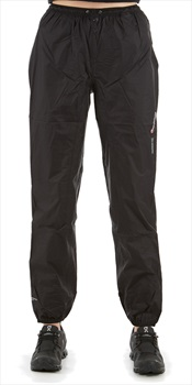 Montane Minimus Regular Women's Waterproof Over Trousers, UK 8 Black