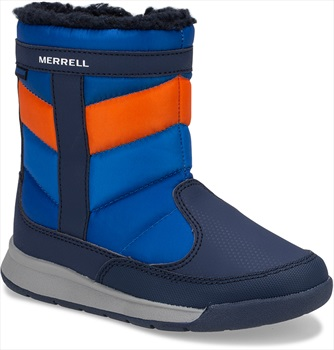 Merrell Alpine Puffer WTRPF Kid's Winter Boots, UK 3 Navy/Orange