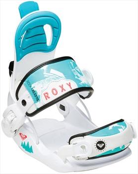 Roxy Rock-it Ready Kids Snowboard Bindings, XS White/Blue 2016