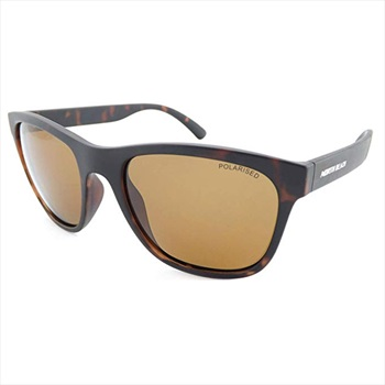 North Beach Basslet Brown Polarised Sunglasses, Matte Brown Tortoise