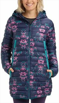 Burton Womens Evergreen Long Down Women's Jacket, S Dress Blue/Green