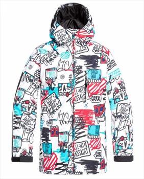 DC Retrospect Kids' Ski/Snowboard Jacket, Age 12 Mini Ply Print