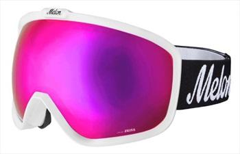 Melon Jackson Pink Chrome Snowboard/Ski Goggle, M/L White