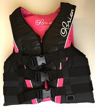 O'Brien 3 Buckle PRO Ladies Deluxe Ski Vest, XS Pink