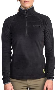 Kathmandu Ridge 100 Women's 1/4 Zip Fleece/Pullover, UK 10 Black