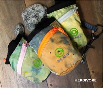 3rd Rock Dippy Doo Rock Climbing Chalk Bag, Herbivore