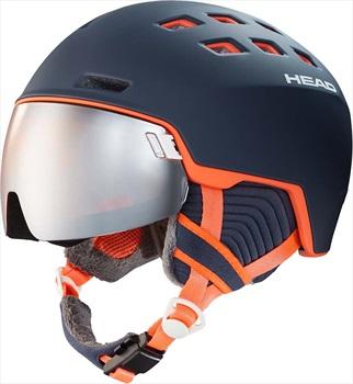 Head Rachel Silver S2 Ski/Snowboard Visor Helmet, XS/S Blue/Salmon