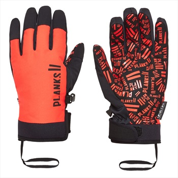 Planks High Times Ski/Snowboard Pipe Gloves, XL Hot Red