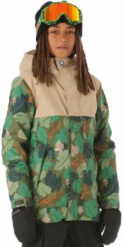 DC Defy Youth Kid's Ski/Snowboard Jacket, 10 Years Chive Leaf Camo