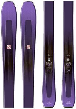 Salomon Aira 84Ti Skis Only Women's Skis, 165cm Purple 2020