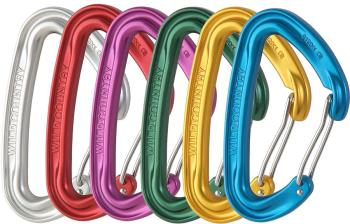 Wild Country Wildwire Wiregate Carabiner, 6 Pack Assorted