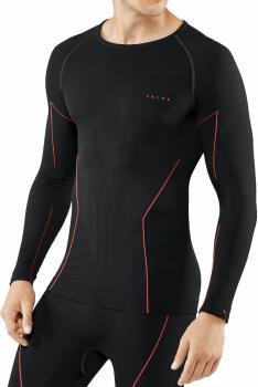 Falke Men's MW LS Shirt Tight Fit Base Layer Top, M Black Fuego