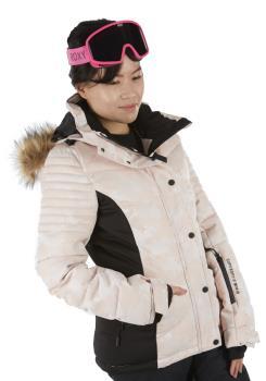Superdry Luxe Snow Puffer Women's Ski/Snowboard Jacket, UK 12 Pink