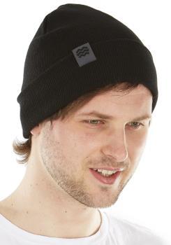 Hyka Essentials Cuffed Beanie Hat, One Size Black