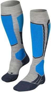 Falke SK2 Merino Wool Ski Socks, UK 9.5-10.5 Light Grey