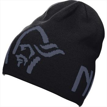Norrona /29 Logo Merino Wool Beanie, S Caviar Black/Cool Black