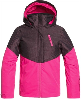 Roxy Frozen Flow Girl's Snowboard/Ski Jacket, Ages 8-10 Beetroot Pink