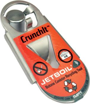 Jetboil Crunchit Fuel Canister Recycling Tool One Size Silver