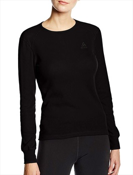 Odlo Body Fit Crew Neck Women's Long Sleeve Baselayer - M, Black