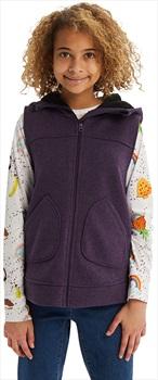 Burton Minxy Girl's Full-Zip Fleece Vest, M Purple Velvet Heather