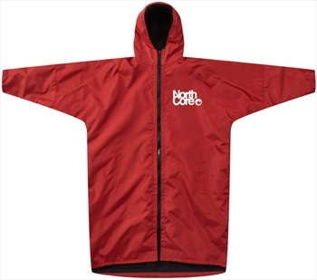 Northcore Adult Unisex Beach Basha Pro Dressing/Changing Robe Jacket, L/Xl Red