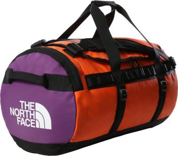 The North Face Base Camp Duffel Bag/Backpack M Red Orange/Trans. Blue