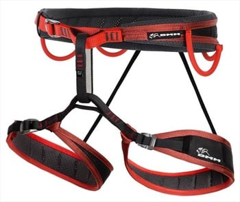 DMM Mithril Rock Climbing Harness, XL Red / Black