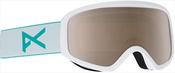 Anon Insight Silver Amber Women's Ski/Snowboard Goggles, S/M White