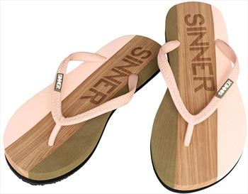 Sinner Capitola Women's Flip Flops, UK 8 / EU 42 Light Pink/Brown
