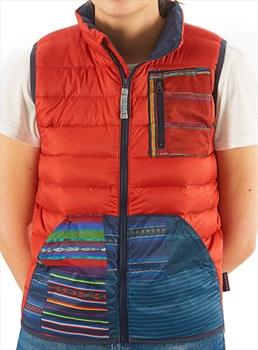 Burton Boys Evergreen Insulator Vest Bodywarmer Gilet, M Red/Navy