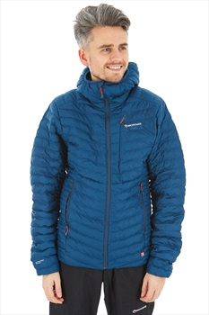 Montane Icarus Micro-Baffle Insulated Hiking Jacket, M Narwhal Blue