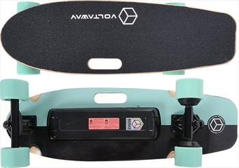 "Voltaway Goober Dual Motor Electric Skateboard, 28"" Aqua"