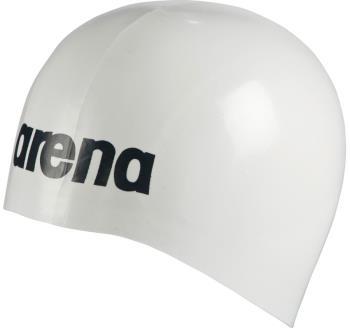 arena Moulded Pro II Silicone Swim Cap, One Size White