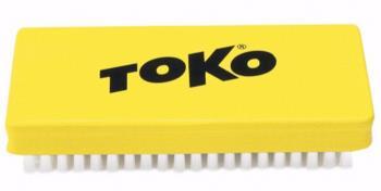 Toko Nylon Polishing Ski/Snowboard Base Brush, Yellow