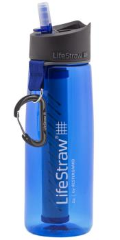 Lifestraw Go Travel Water Filter Bottle, 1L Blue