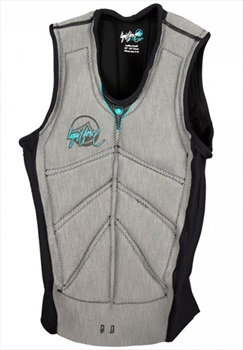 Liquid Force Women's Cardigan Comp Impact Vest, XS Grey Aqua