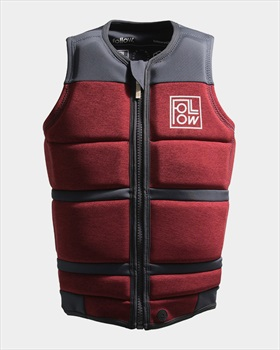 Follow Surf Edition Wakeboard Impact Vest Jacket, M Red Wine 2021