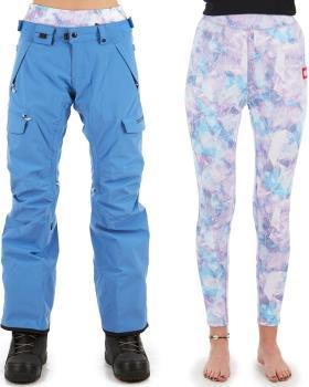 686 Smarty Cargo 3-In-1 Women's Ski/Snowboard Pants, S Washed Indigo