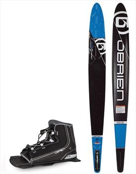 "O'Brien Siege Slalom Water Ski+Binding Package, 67.5"" | Z9 Blue 2021"