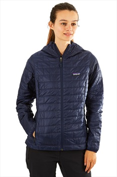 Patagonia Nano Puff Hoody Womens Insulated Jacket UK 14 Classic Navy
