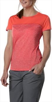 Berghaus Voyager Tech Women's Short Sleeve T-Shirt, UK12 Red/Hot Coral