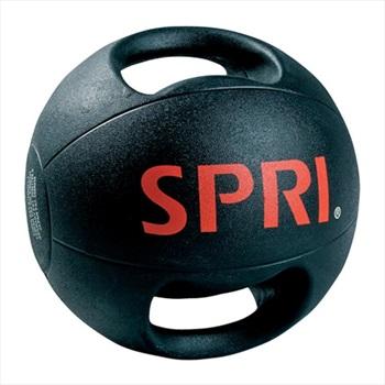 SPRI Dual Grip Xerball Medicine Ball 4.5 KG Black